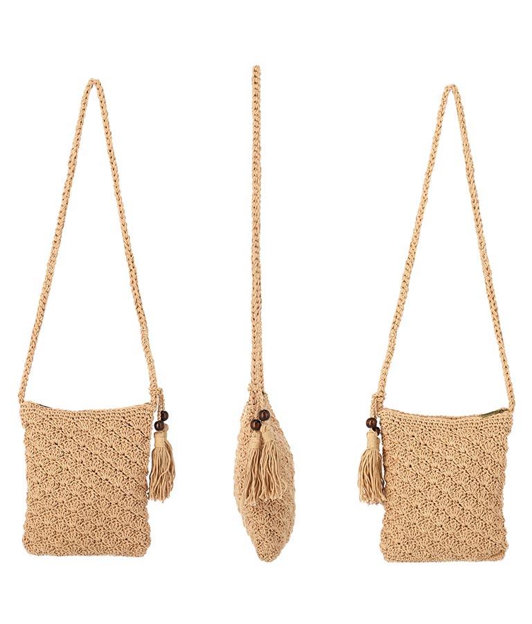 マクラメショルダーバッグ(バッグ・鞄・小物/ショルダーバッグ) | anap mimpi