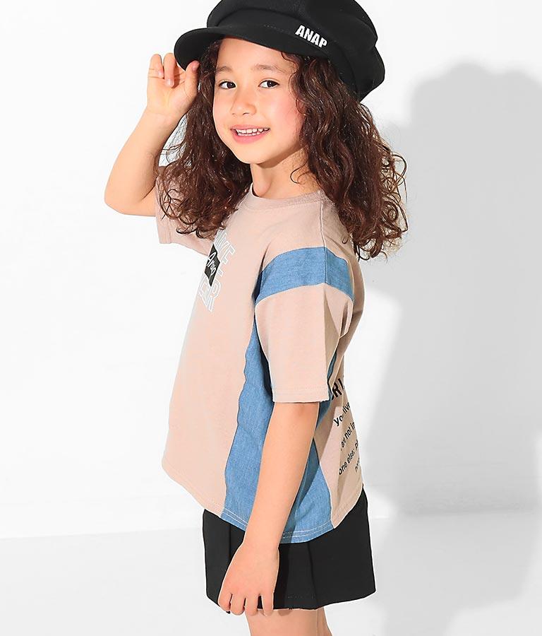 デニムコンビビッグTシャツ(トップス/Tシャツ) | ANAP KIDS