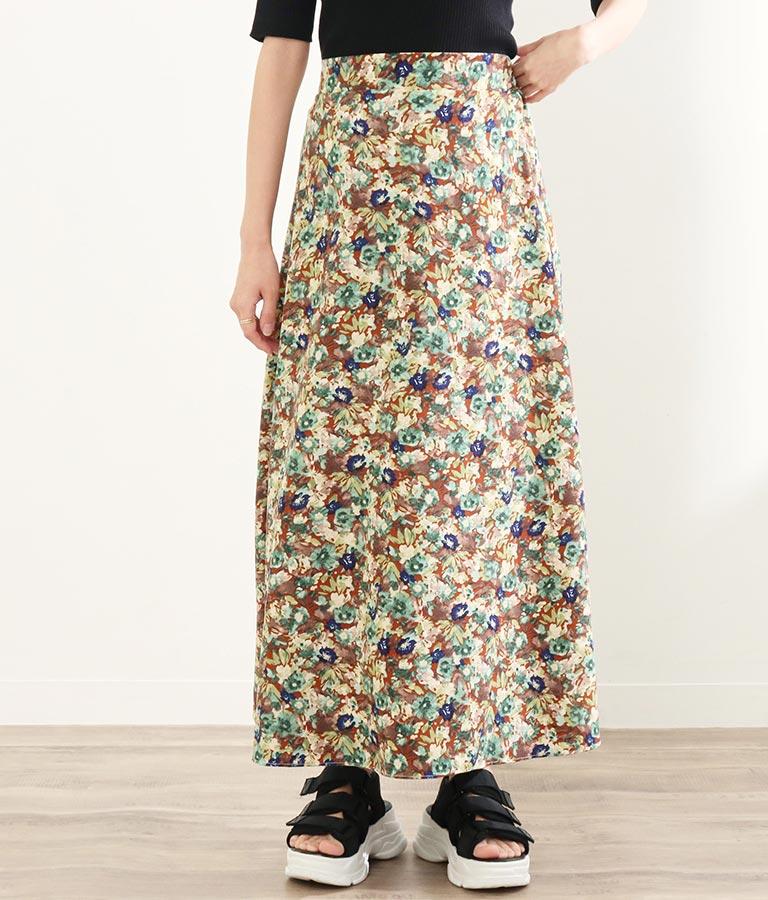 ミモレフラワープリントスカート(ボトムス・パンツ /スカート) | CHILLE