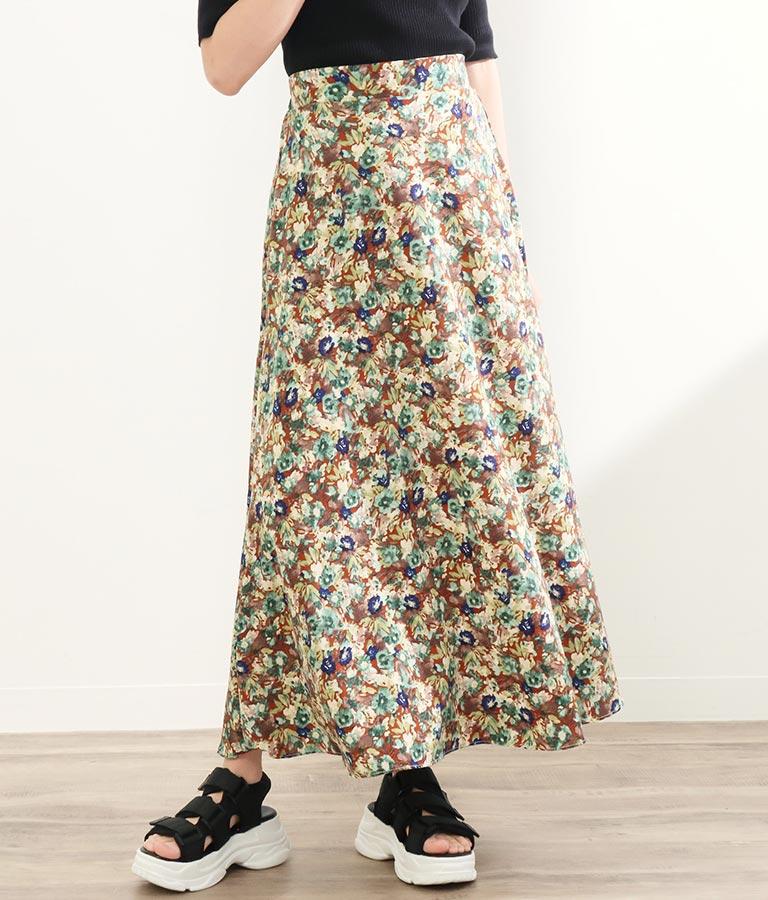 ミモレフラワープリントスカート