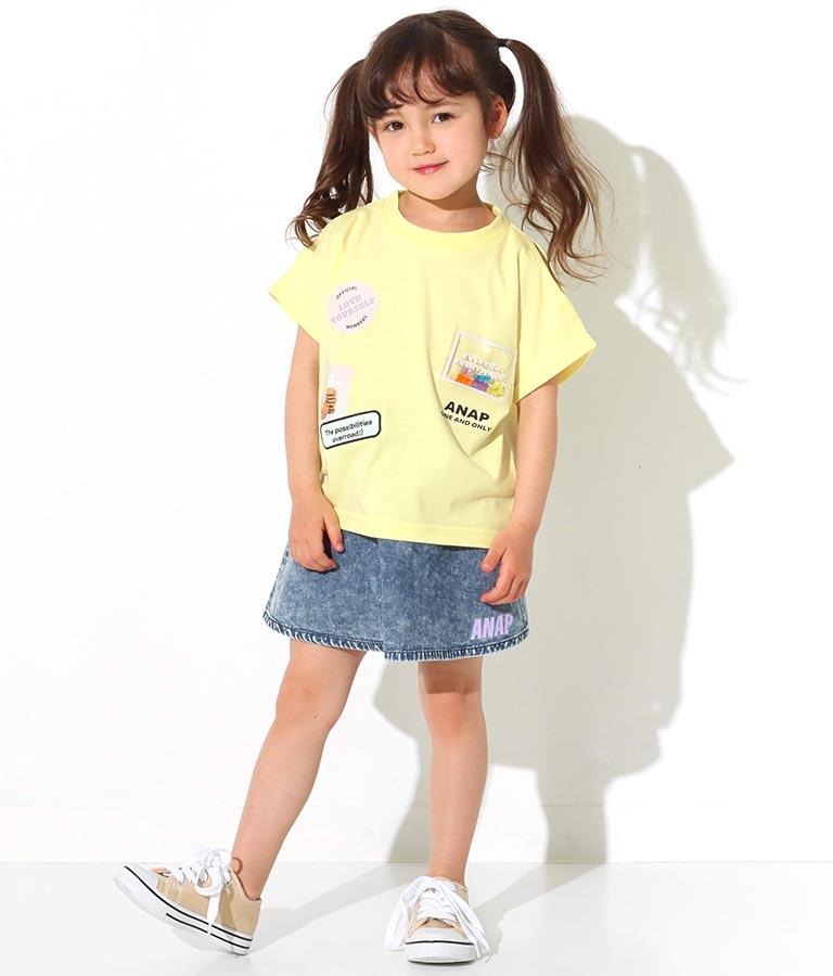 グミベアワッペン肩開きトップス(トップス/Tシャツ)   ANAP KIDS