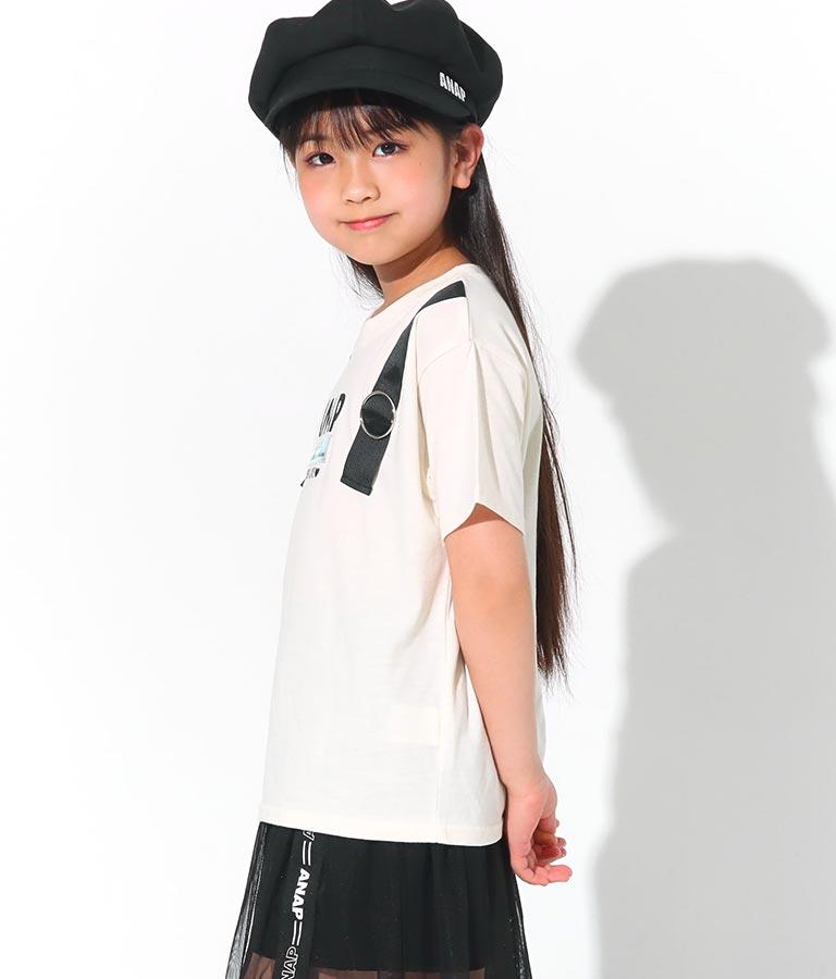 肩ベルトクリアワッペントップス(トップス/Tシャツ) | ANAP KIDS