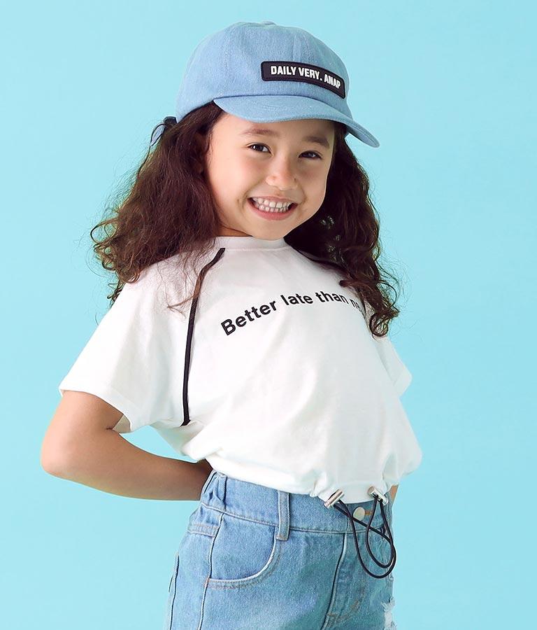 デニムラバーワッペンキャップ(ファッション雑貨/ハット・キャップ・ニット帽 ・キャスケット・ベレー帽) | ANAP KIDS