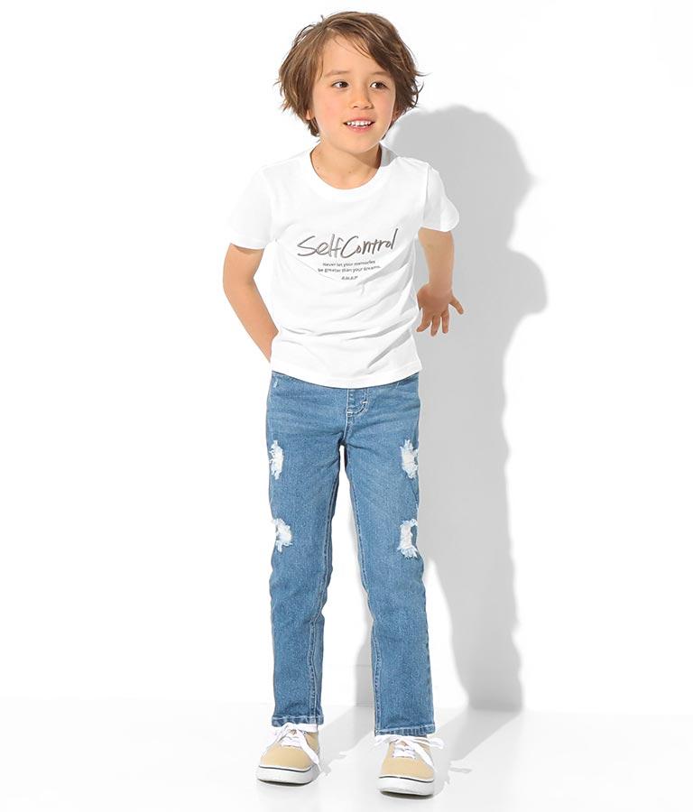 制菌刺繍ロゴTシャツ(トップス/Tシャツ) | ANAP KIDS