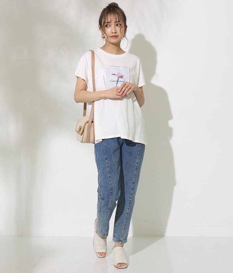 フラワーシートプリントTシャツ(トップス/Tシャツ)   CHILLE