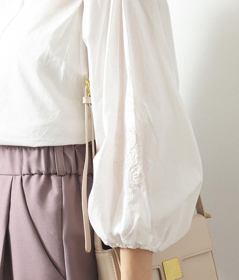 ボリューム袖刺繍ブラウス(トップス/シャツ・ブラウス) | CHILLE