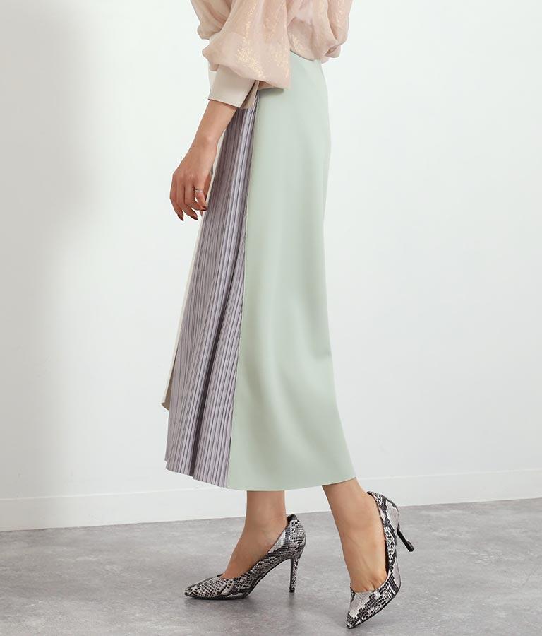 EimeeLawサイドプリーツ釦ポイントボンディングスカート(ボトムス・パンツ /スカート)   Alluge