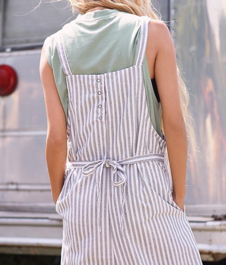 ストライプサロペット(ワンピース・ドレス/サロペット/オールインワン) | anap mimpi