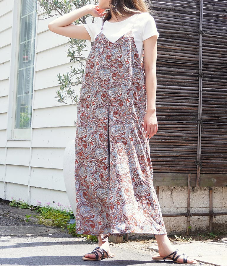 ペイズリーキャミサロペット(ワンピース・ドレス/サロペット/オールインワン)   anap mimpi