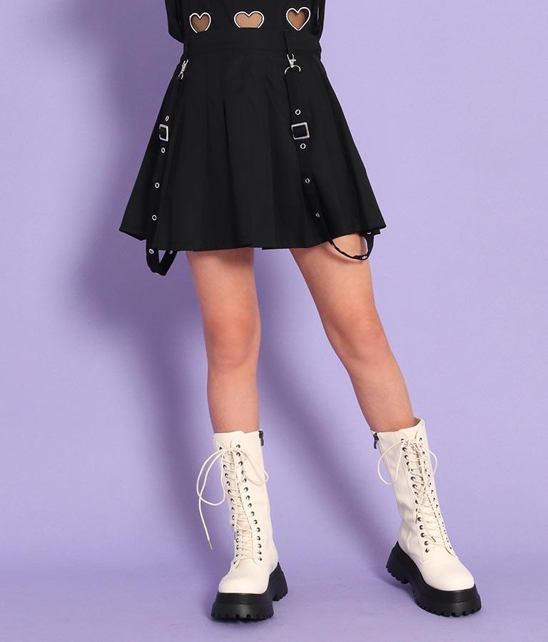 ハトメサスペンダー付きインパンツ付プリーツスカート(ボトムス・パンツ /ショートパンツ・スカート) | ANAP GiRL