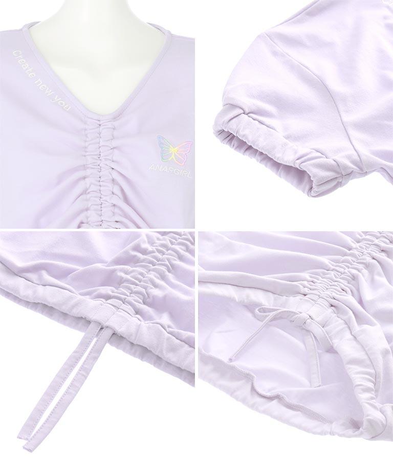 シャーリングトップス(トップス/Tシャツ・カットソー ) | ANAP GiRL