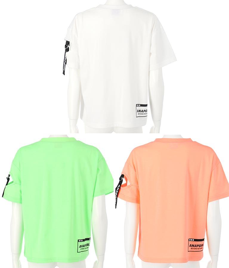 袖テープ肩開きトップス(トップス/Tシャツ・カットソー ) | ANAP GiRL