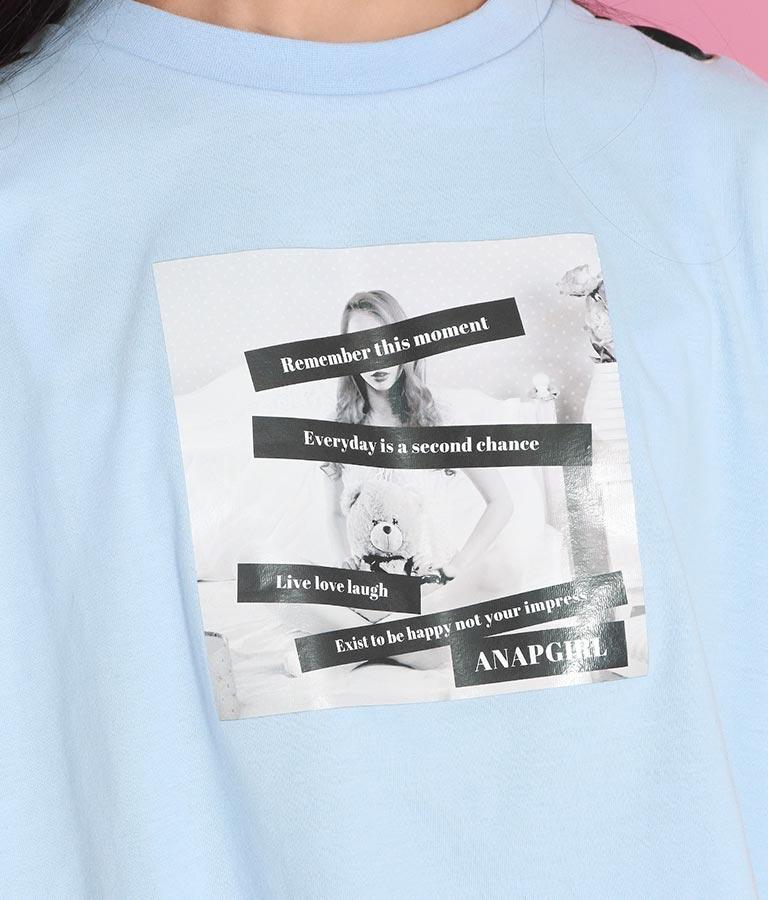 肩レースアップクロップドTシャツ(トップス/Tシャツ) | ANAP GiRL