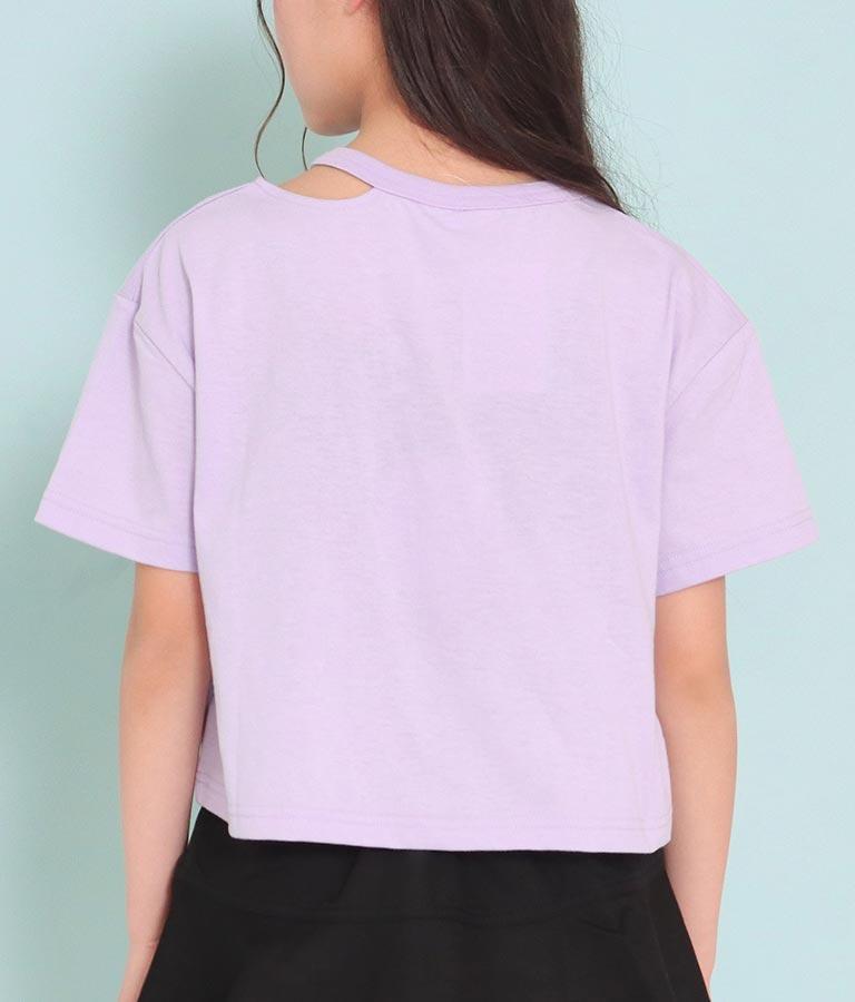 ハート裾開きホログラムワッペントップス(トップス/Tシャツ) | ANAP GiRL