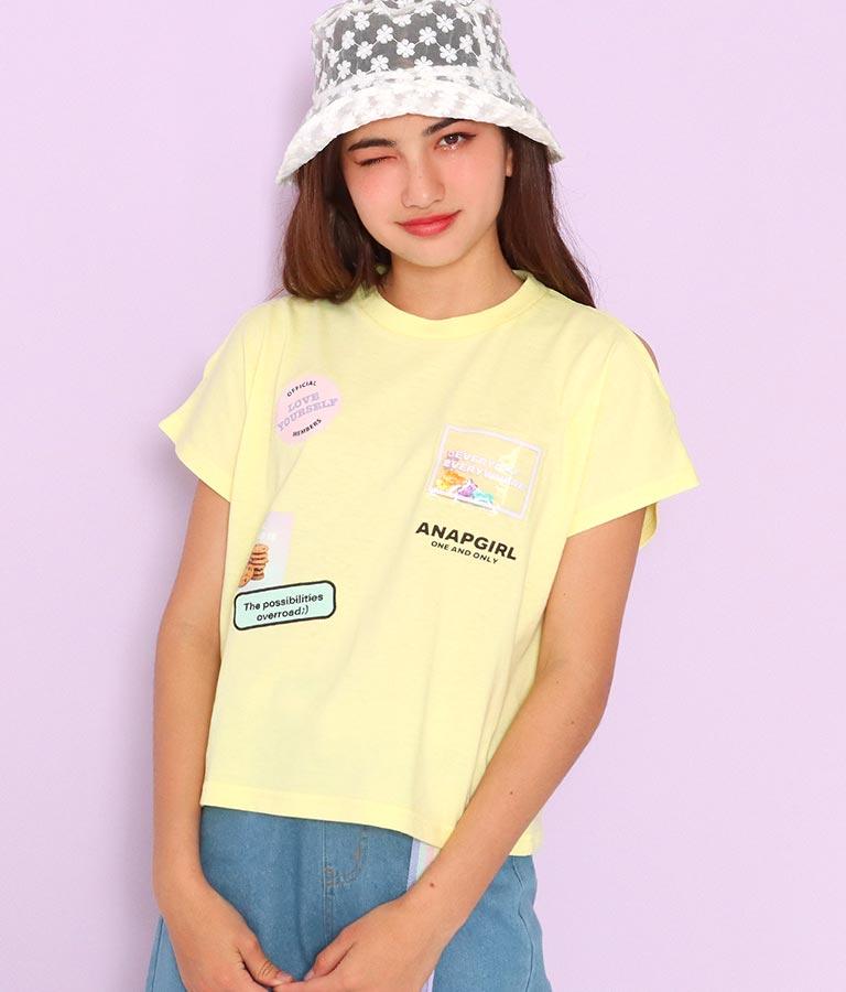 ベアグミワッペン肩開きトップス(トップス/Tシャツ) | ANAP GiRL