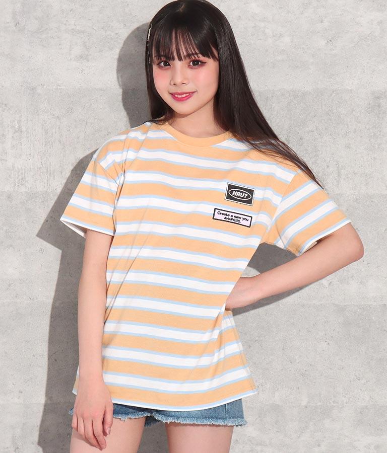 カラーボーダービッグTシャツ(トップス/Tシャツ) | ANAP GiRL