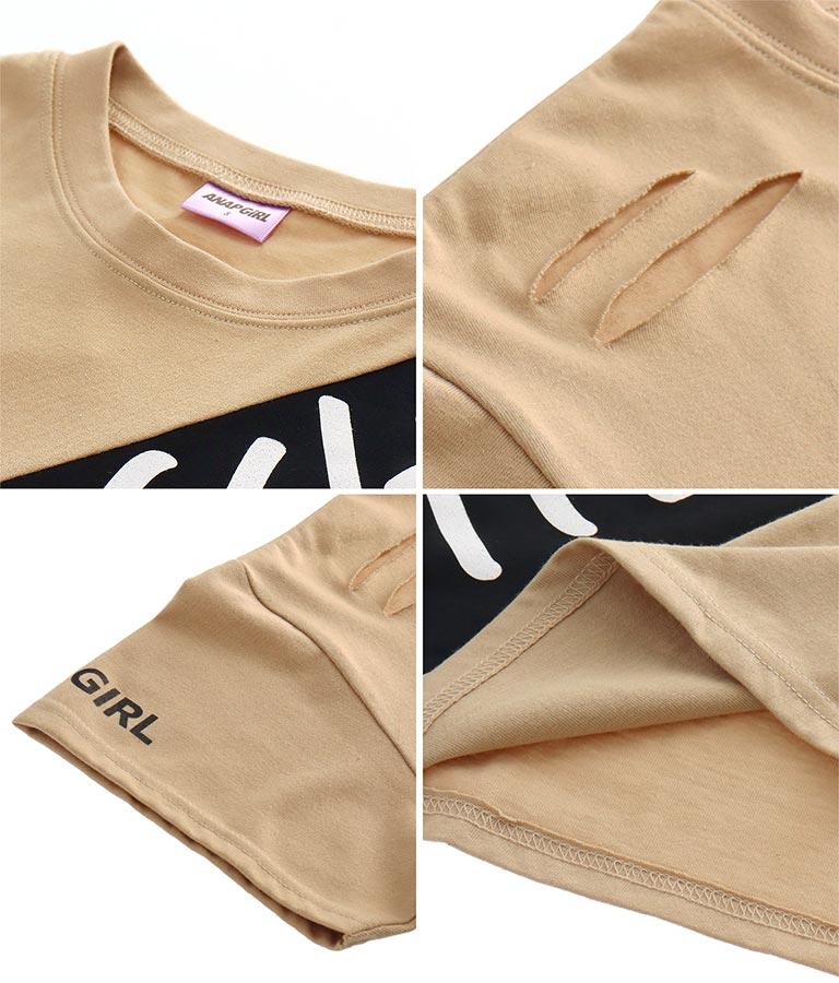 ダメージビッグTシャツ(トップス/Tシャツ) | ANAP GiRL