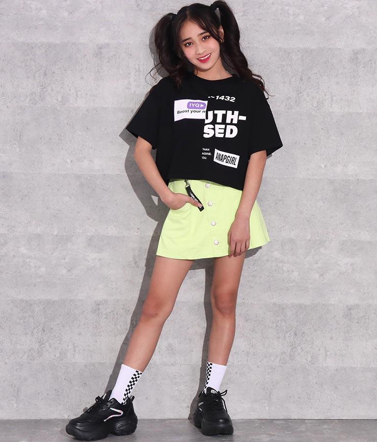 ハーフプリントクロップドTシャツ(トップス/Tシャツ) | ANAP GiRL
