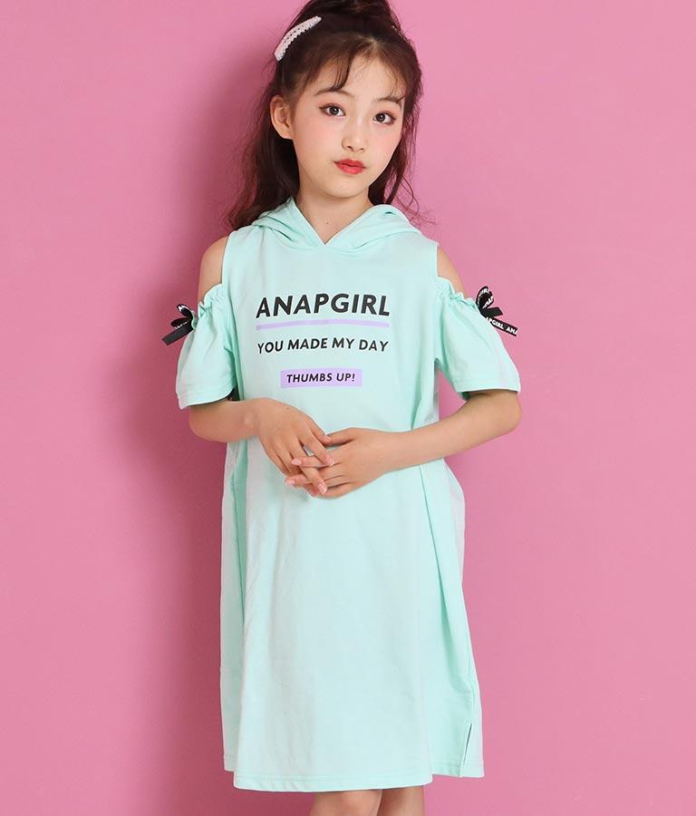 肩開きフードワンピース(ワンピース・ドレス/ミディアムワンピ) | ANAP GiRL