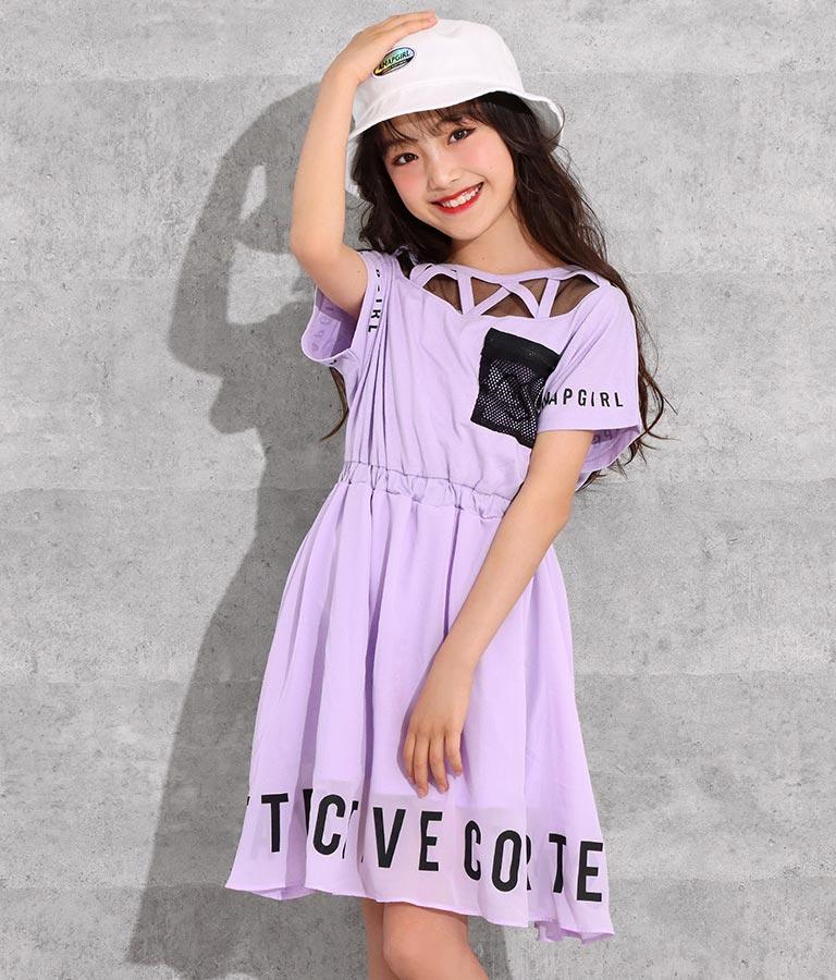 シフォンスカート切替ワンピース(ワンピース・ドレス/ミディアムワンピ) | ANAP GiRL
