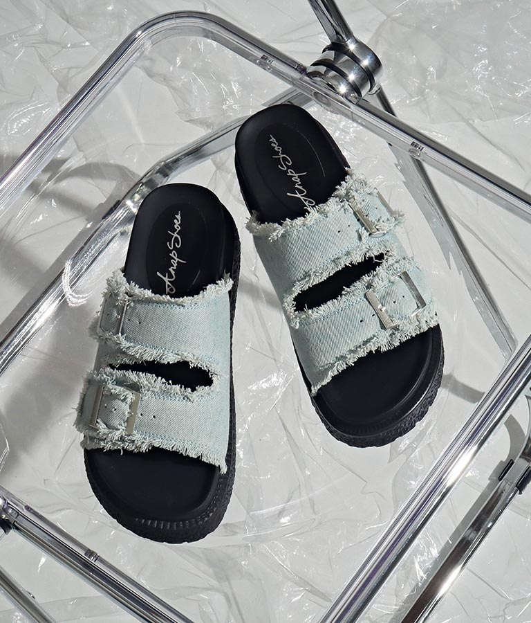フリンジデニムサンダル(シューズ・靴/サンダル)   ANAP