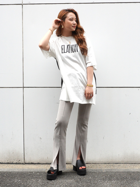 ビッグロゴバイカラーTシャツ