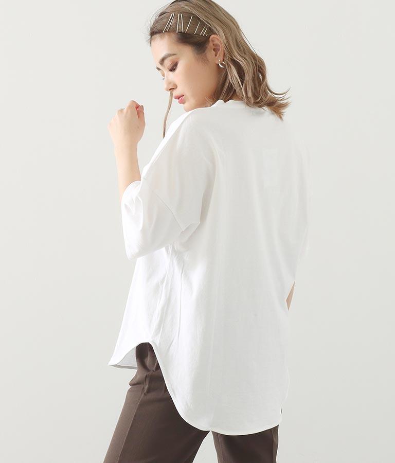 コットンプリントオーバーTシャツ(トップス/Tシャツ)   Alluge