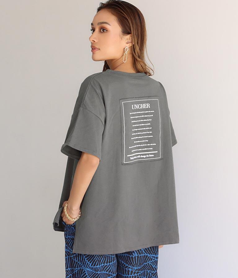 バック貼り付けプリントビッグ天竺Tシャツ(トップス/Tシャツ)   Settimissimo