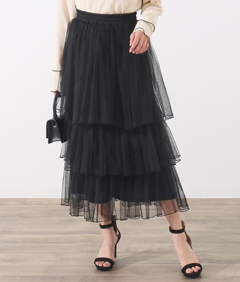 チュールティアードスカート(ボトムス・パンツ /スカート)   Alluge