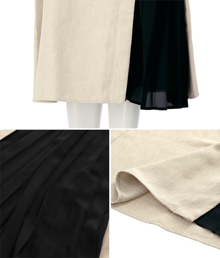 サイドプリーツジャンパースカート(ワンピース・ドレス/ロングワンピ) | Alluge