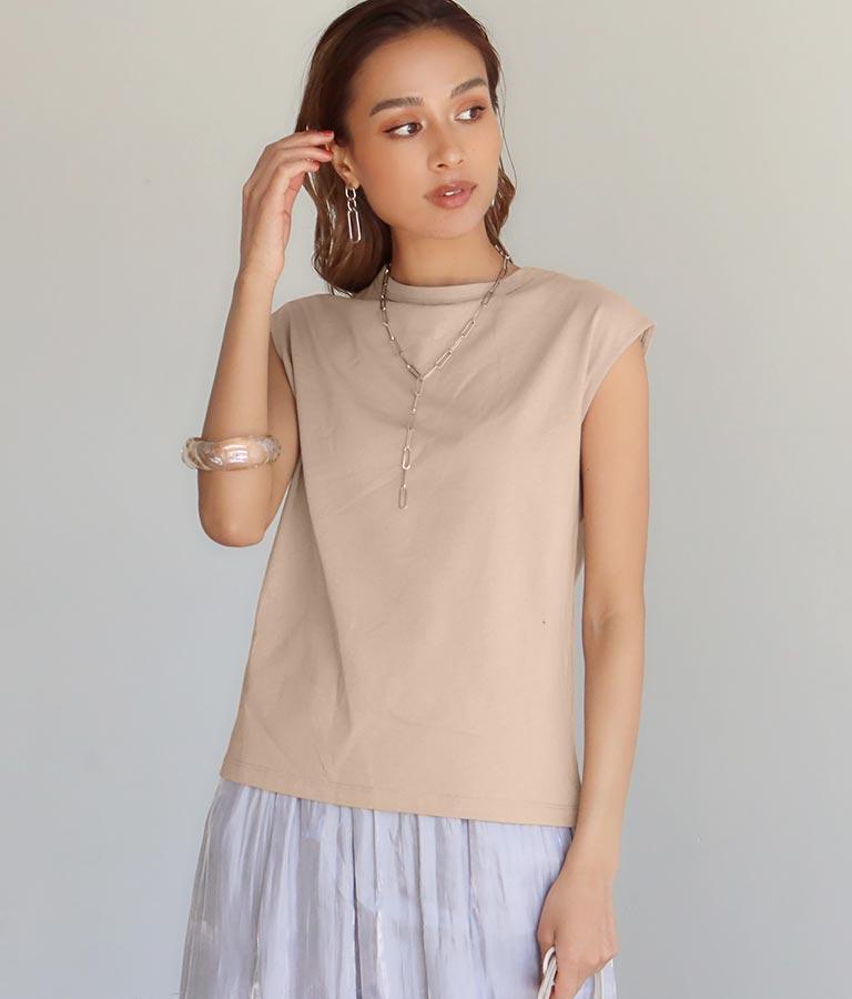 オーガニックコットンフレンチスリーブTシャツ(トップス/Tシャツ) | Alluge