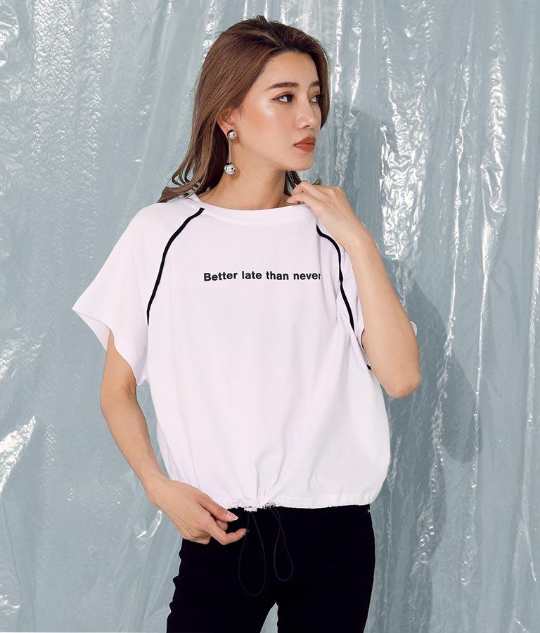 ラグランパイピングクロップドトップス(トップス/Tシャツ) | ANAP