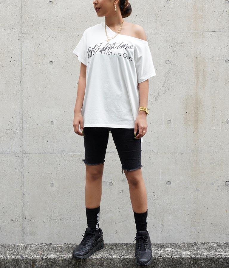 ワンショルプリントトップス(トップス/Tシャツ) | ANAP