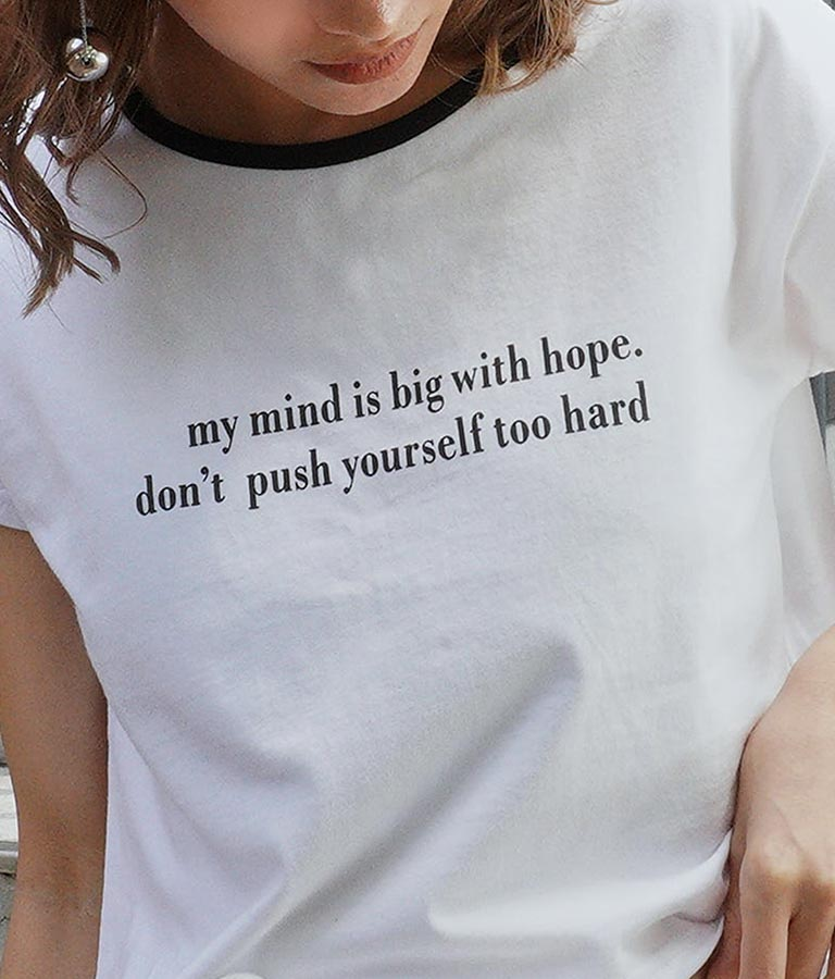 ネック配色クロップドTシャツ(トップス/Tシャツ)   ANAP