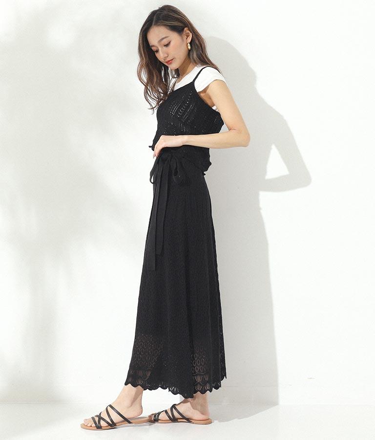 透かし編みリボン付きラップスカート(ボトムス・パンツ /スカート) | CHILLE
