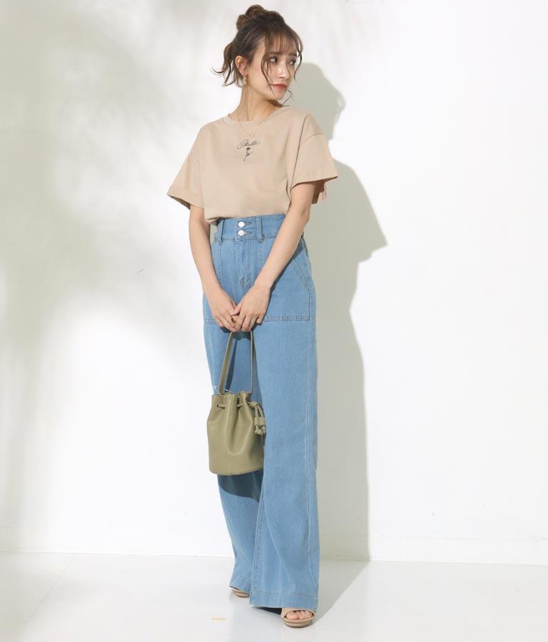CHILLE筆記体ローズTシャツ(トップス/Tシャツ)   CHILLE