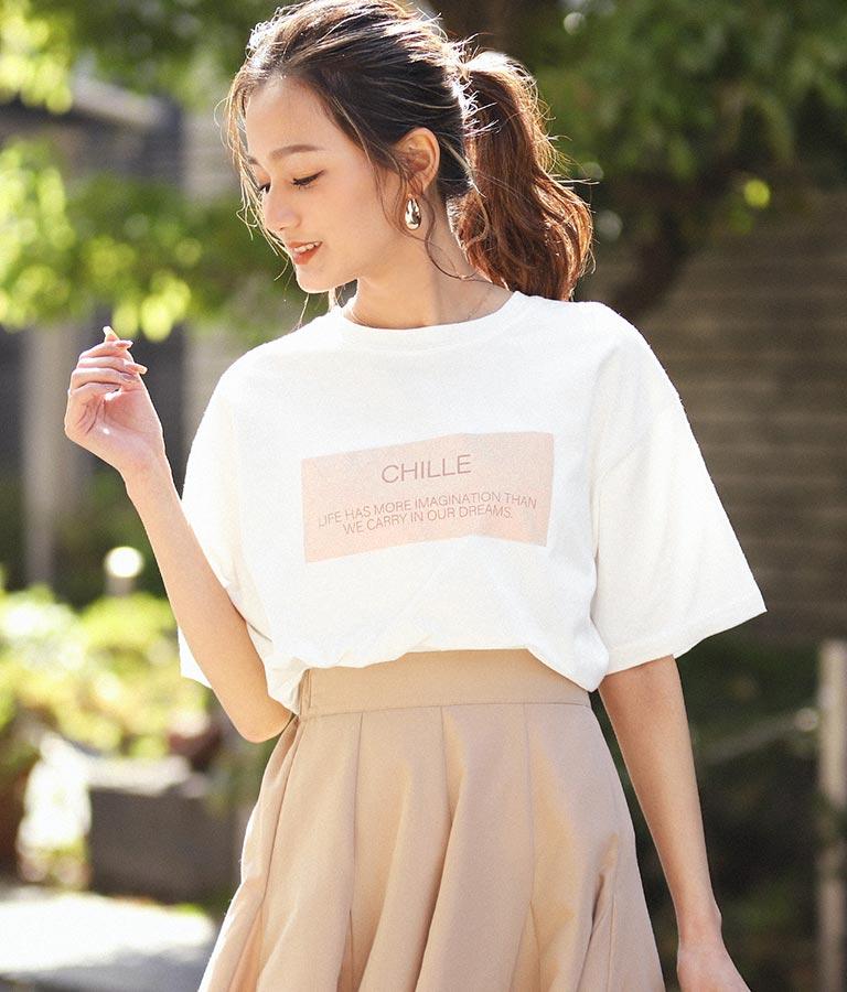 CHILLEメッセージロゴTシャツ