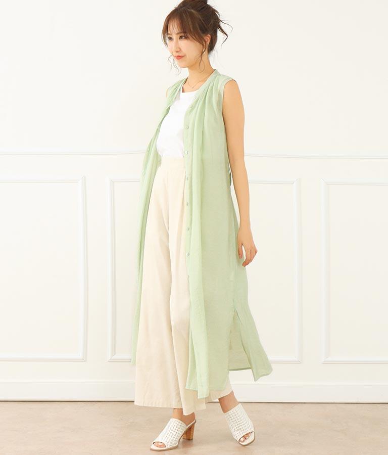 シアーシャツワンピース(ワンピース・ドレス/ロングワンピ) | CHILLE