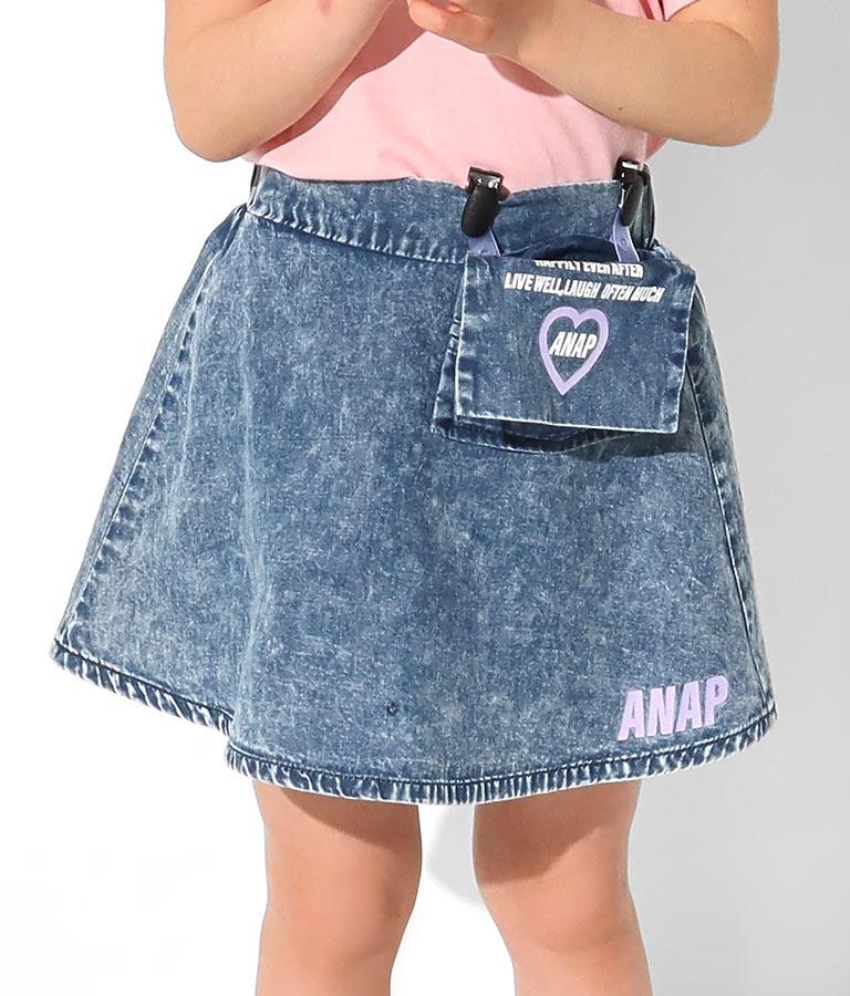 移動ポケット付フレアミニスカート