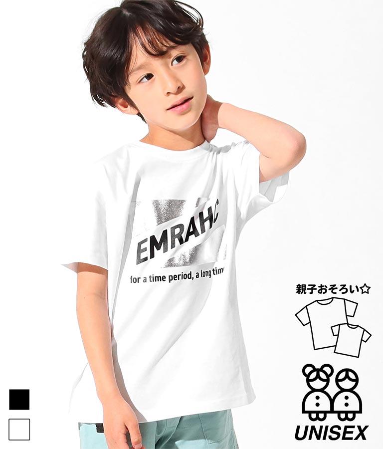 箔トライアングルプリントTシャツ