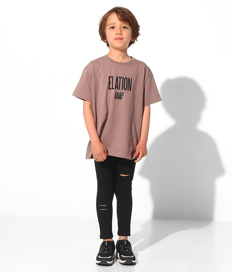 バイカラープリントビッグTシャツ(トップス/Tシャツ)   ANAP KIDS