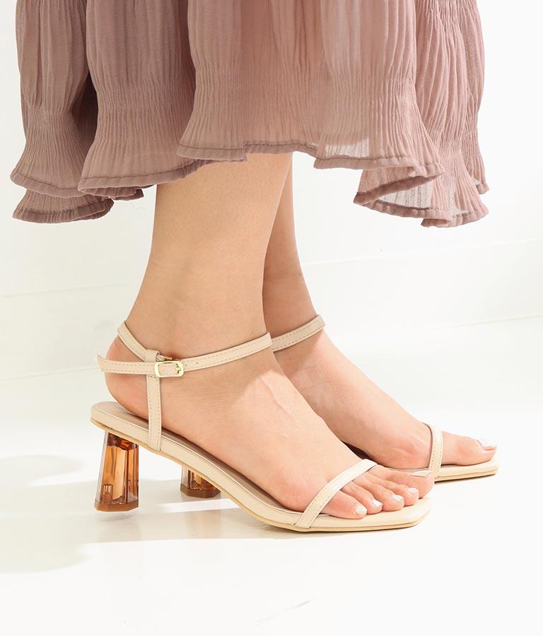 クリアヒールスクエアカットサンダル(シューズ・靴/サンダル)   CHILLE