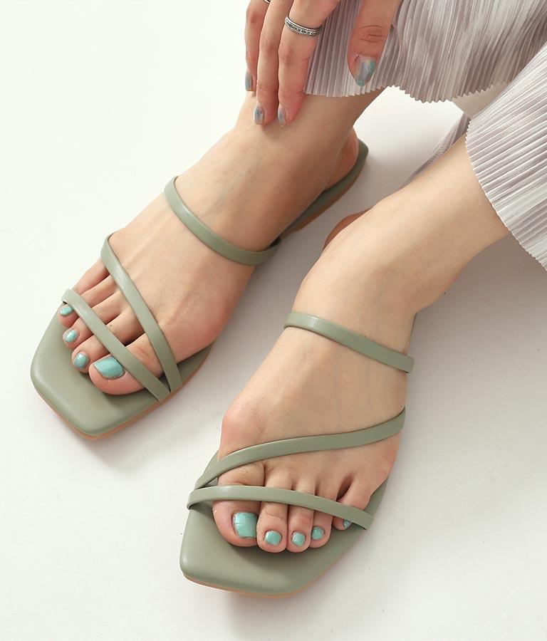 フラットカラーサンダル(シューズ・靴/サンダル)   CHILLE