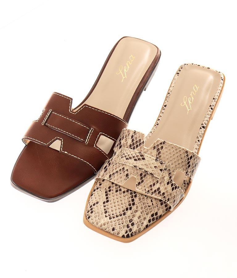 Hカットフラットステッチサンダル(シューズ・靴/サンダル) | CHILLE