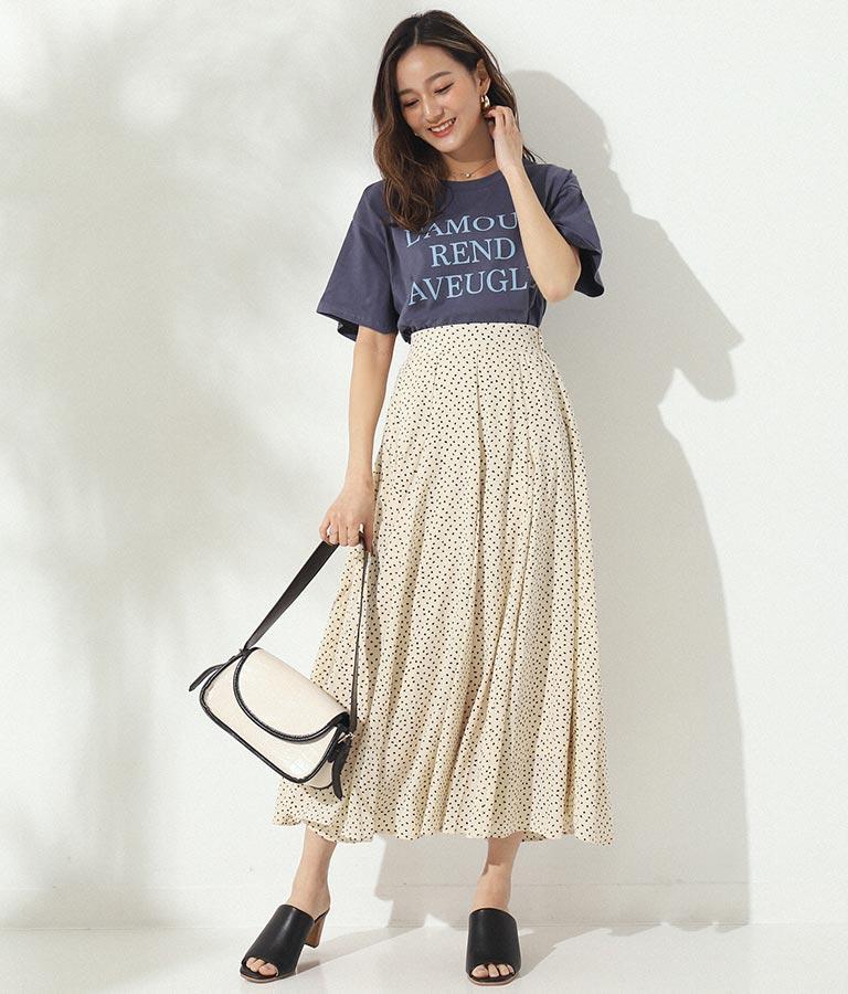 同色プリントロゴTシャツ(トップス/Tシャツ) | CHILLE