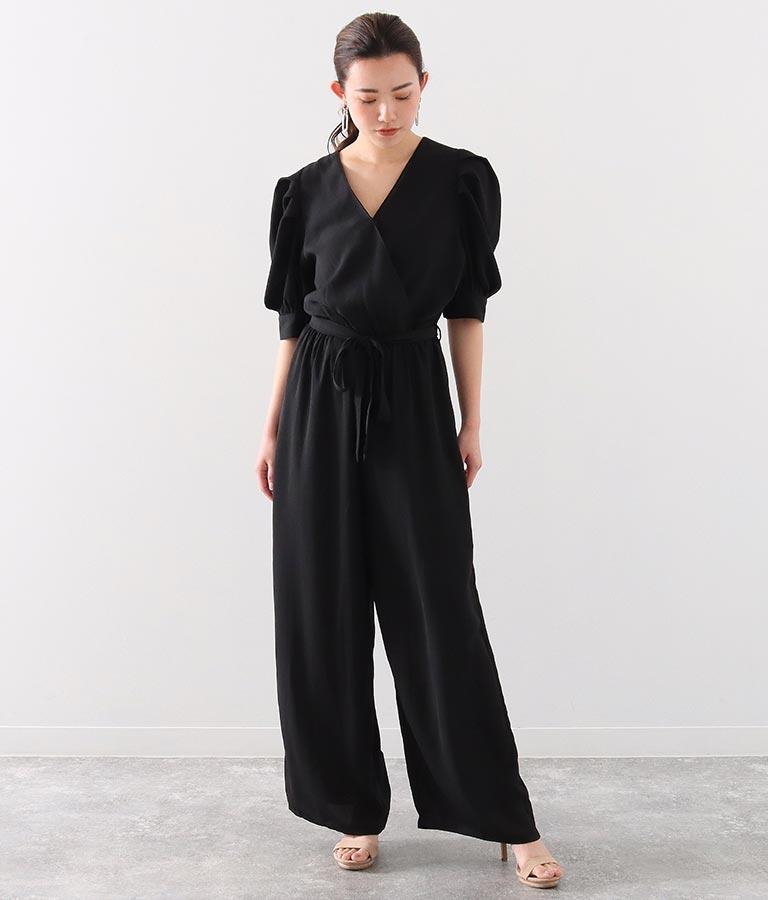 パワーショルダーオールインワン(ワンピース・ドレス/ロングワンピ) | Alluge
