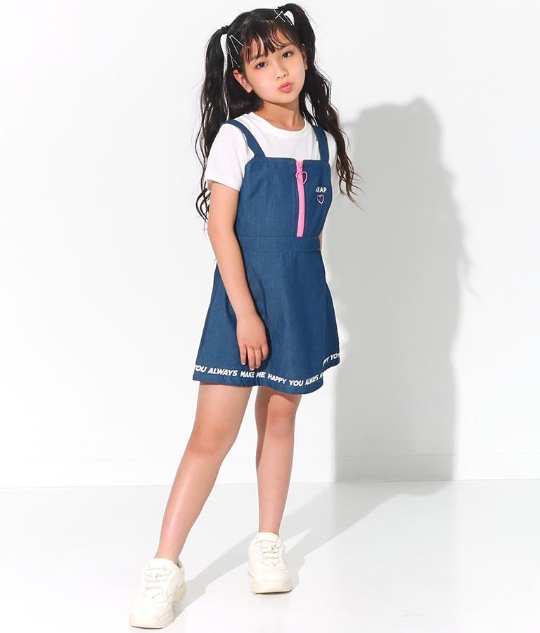 デニムジップ配色ワンピース(ワンピース・ドレス/ミディアムワンピ) | ANAP KIDS