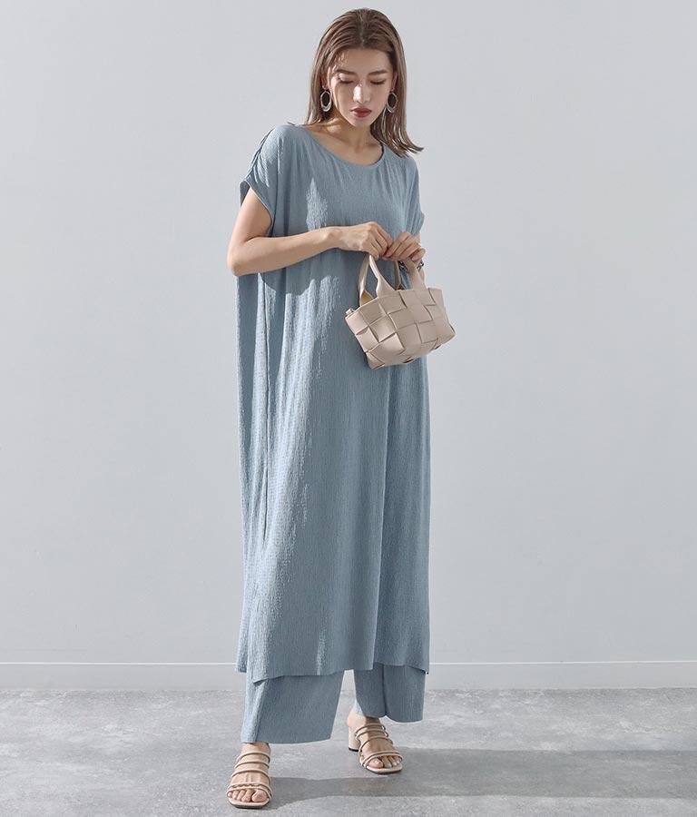 プリーツ加工カットワンピース(ワンピース・ドレス/ロングワンピ) | Alluge