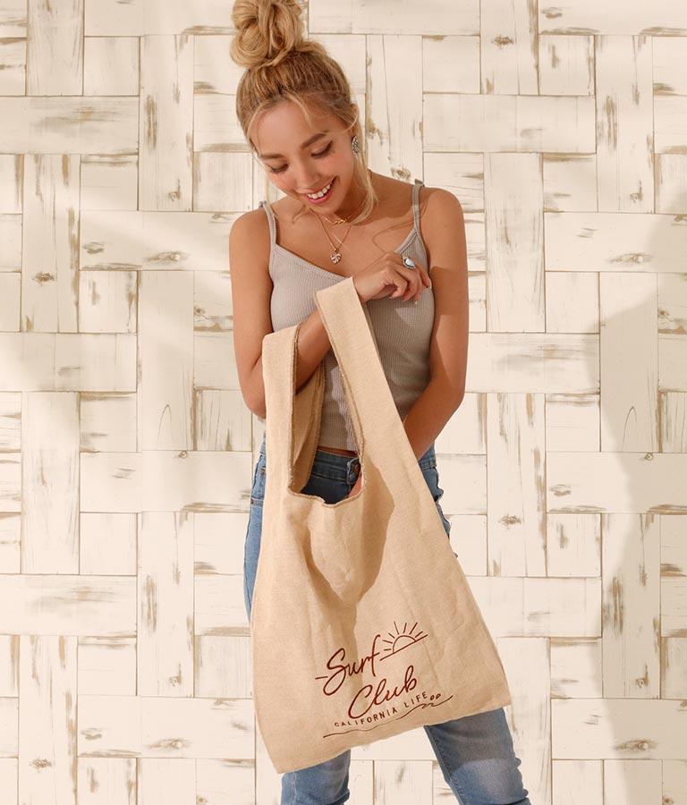 刺繍マルシェバッグ(バッグ・鞄・小物/トートバッグ) | anap mimpi