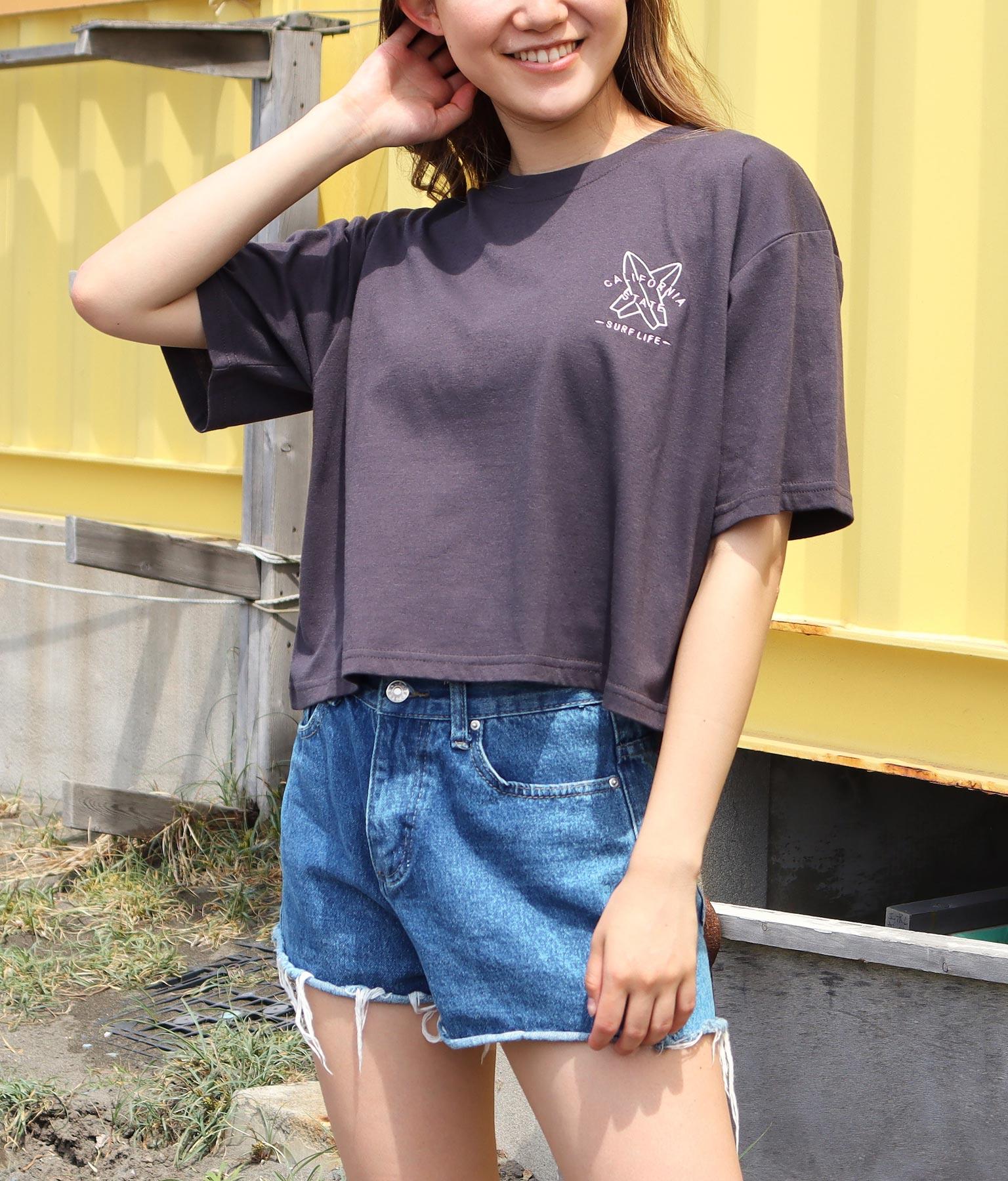 刺繍クロップドTシャツ(トップス/Tシャツ) | anap mimpi